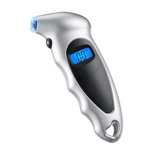 RUIZHI Manómetro Digital Presión Neumáticos 150 PSI 4 Ajustes Herramienta de Prueba con Pantalla LCD Tire Pressure Gauge para Auto Motocicleta