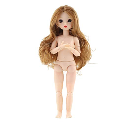 lahomia Adorable Moveable 22 Jointed 12 Inch Ball Jointed Dolls BJD Girls Doll Body OB11 Dolls Baby Girl Dolls Plastic DIY Toy Gifts for Girls - E