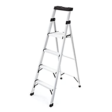 Rubbermaid RMA-5XS Aluminum Ladder with Project Top, 5.5'
