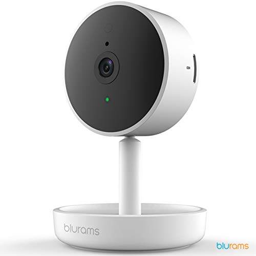 Blurams Home Pro 1080p FHD Dome Camera Home Surveillance-WiFi Microphone-Speaker Intelligent Detection People/Animals/Sounds Alerts Mobile Private Area Real Time (iOs & Android)
