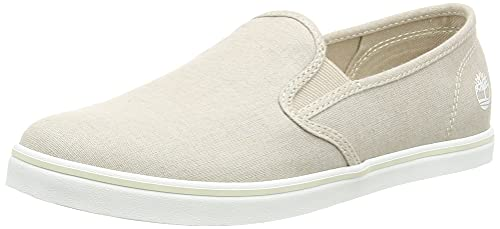 Timberland Dausette Slip-On, Sneakers Basse Donna, Beige Natural Canvas, 38 EU
