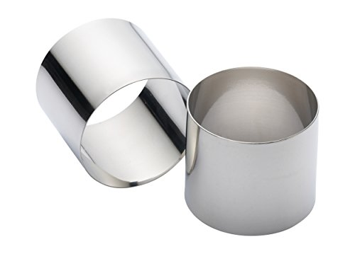 KitchenCraft Cooking Rings, Extra Deep Moulds for Rice and Potato Stacks, Cheesecakes, Fishcakes and More, Stainless Steel, 7 x 6 cm, Set of 2
