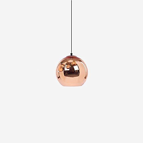 LHTCZZB Iluminación de colores Lámparas colgantes de vidrio galvanizado plateado Accesorios modernos E27 Led Edison Ball Lámparas de techo Cortinas Dormitorio Balcón Sala Comedor Bar Cafetería de un s