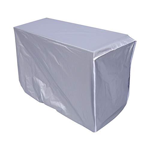Tnfeeon Airconditioning, 3 maten, anti-stof, sneeuw, waterdicht, stofdicht, zonwerend raam, airconditioning, beschermt met touw voor thuis en buiten (zilver)