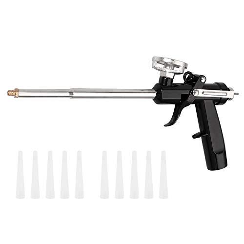 AUTOUTLET Pistola de Espuma Expansible Profesional, Pistola de Espuma de Poliuretano, Pistola de Calafateo con Pulverización Manual, PU de Aislante, para Aplicar Espuma Expansiva en Espacios Pequeños