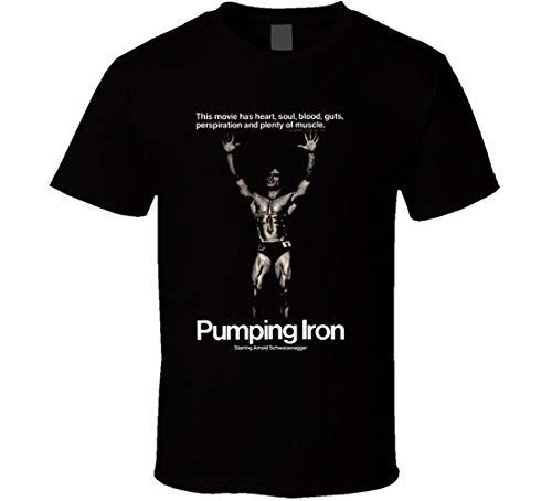 FUBAO Bombeo Iron Movie Arnold Schwarzenegger T Shirt Negro