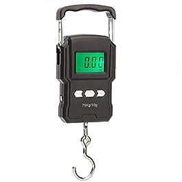 Pêche Balances électroniques, balances de pêche avec LCD Displayportable Hanging Backlit échelle échelle de pêche pour…