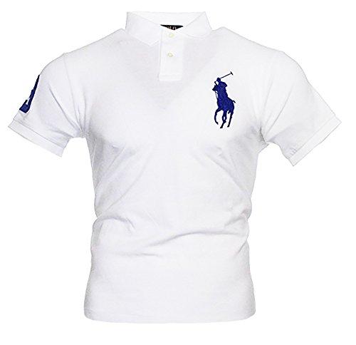 Ralph Lauren Herren Kurzarm Polo Shirt Big Pony (Weiß, XS)