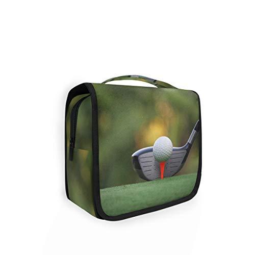 Grande trousse de toilette à suspendre - Motif balle de golf - Pour femme et enfant