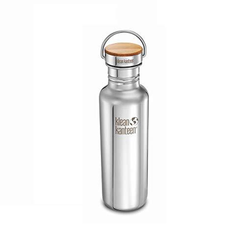Klean Kanteen Reflect Gourde en acier inoxydable Unibody Bamboo Cap Mirrored Stainless 800 ml