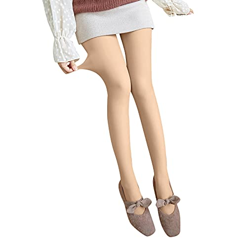 Damen Strumpfhosen Plüschstrümpfe Beine Abnehmen Gefälschte Durchscheinend Warm Thermo Fleece Pantyhose -Wärmende Leggings Thermostrumpfhose für Damen Thermohose Gamaschen Schlanke Hose Winterleggins