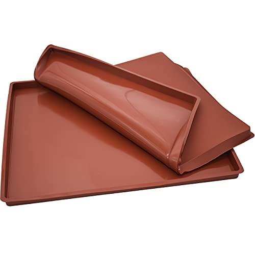 Teglia Rettangolare In Silicone ZSWQ 2PCS Cucina Stampo Da Forno Antiaderente, Bordi Alti, Utilizzabile Come Vassoio Per Pasticceria30 x 25 Cm, Altezza 1.5 CM