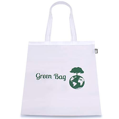 GreenBag Einkaufstasche | 100% Recyceltes Plastik | 30 Liter Fassungsvermögen | 42cm x 38cm | Recyclingtasche | waschbar | faltbar | groß |