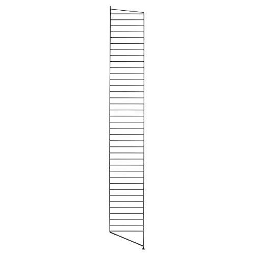 String - Bodenleiter Regal 200 x 30 cm, schwarz