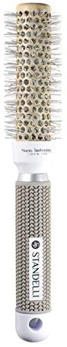 Standelli - Rundbürste mit Nano Technologie, Runde Haarbürste Thermo für Volumen, Thermobürste für Damen, Fönbürste, Bürste für jeden Haartyp - Rundbürsten zum Stylen, Lockenwickeln, 25mm