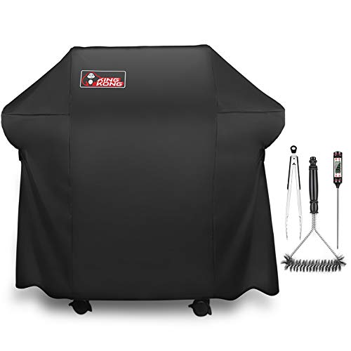 Kingkong 7106 Cover for Weber Spirit 200 and 300 Series Gas Including Grill Brush, Tongs and Thermometer