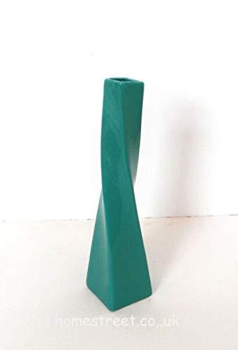 Homestreet Vases Vaso in ceramica di forma contorta, in ceramica, dimensioni: 25 cm, ideale per composizioni di piccoli fiori, colore: foglia di tè
