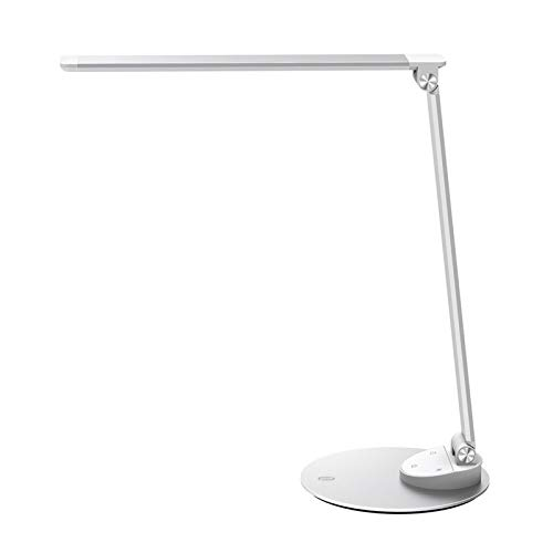 TaoTronics LED Desk Lamp with USB Charging Port, Eye- care Dimmable Lamp, 5 Color Temperatures with...