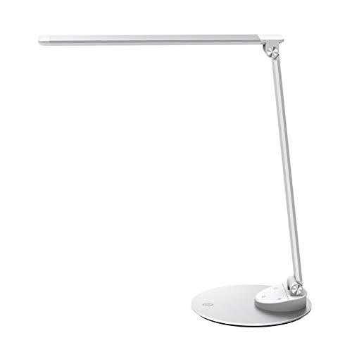 TaoTronics LED Desk Lamp Metal Table Lamp, USB Charging Port, Eye-care Dimmable Adjustable Durable, 5 Color Modes & 5 Brightness Levels, Memory, Official Member of Philips EnabLED Licensing Program