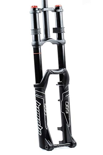 QHY Bicycle forks DH Bicycle Suspension Fork 27.5''/29' MTB Bike Shock Absorber 1-1/8' Travel 170mm Straight Through Axle 20 * 110mm (Color : Black, Size : 27.5')