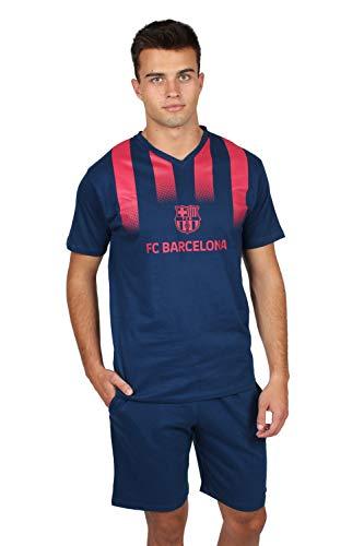 FC Barcelona Pijama Manga Corta Franjas para Hombre