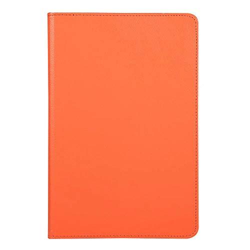 ZETIAN 360 rotación Litchi patrón PU Funda de Cuero con Tapa para Tableta para Samsung Galaxy tabA7 Tab A7 10.4 T500 SM-T505 Funda con Soporte-Naranja_Tab S5e 10.5 SM-T720
