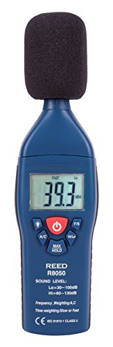 Reed ST-805 Sound Level Meter, 35 to 100 dB and 65 to 135 dB Range,  /-1.4 dB Accuracy