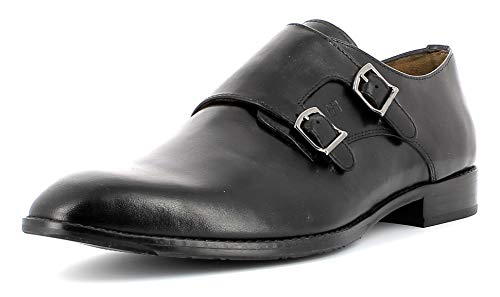 Gordon & Bros Herren Monk Mirco S181728,Männer Doppel-Monk,Monkstrap,Halbschuhe,2 Schnallen,elegant,Business-Schuh,Anzugschuh,Freizeitschuh,Black,EU 42