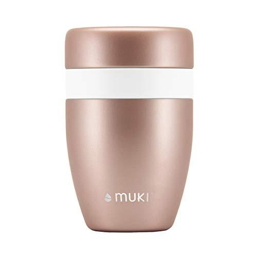 FLSK muki Snackpot Roségold aus Edelstahl – vakuumisoliert | Der Snackpot hält Dein Frühstück stundenlang frisch und kühl | ohne BPA und rostfrei – 550ml
