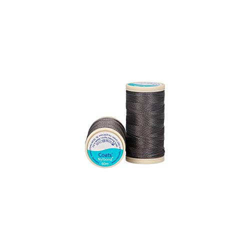 Jassen Nylbond Naaien & Kralen draad (Bonded Nylon) Voor jeans, leer, elastische stoffen & sieraden maken - Grey 5005