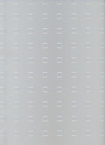 GAH-Alberts 466480 Strukturblech | Quadrat-Prägung | Aluminium, silberfarbig eloxiert | 250 x 500 x 1 mm