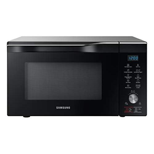 Samsung MC32K7055CT/EC – Forno microonde con grill da 32 l, interno in ceramica, tecnologia hotblast e funzione forno fino a 200°C, 2100 W, colore: nero, grigio