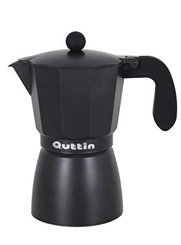 Quttin Cafetera Aluminio 9 servicios Dark Black