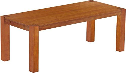Brasilmöbel Esstisch Rio Kanto 208x90 cm Kirschbaum Pinie Massivholz Größe und Farbe wählbar Esszimmertisch Küchentisch Holztisch Echtholz vorgerichtet für Ansteckplatten Tisch ausziehbar