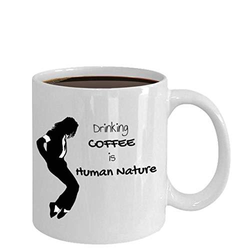 N\A Michael Jackson, Kaffeetasse, Michael Jackson Tasse, Mj Tasse Tasse mit Griff, Isolierte Keramik Wiederverwendbare Kaffeetasse, Kaffee Reisebecher