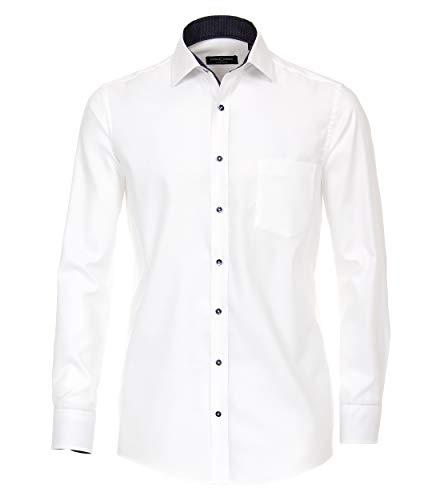 CASAMODA Herren Businesshemd Uni Comfort Fit Weiß 50