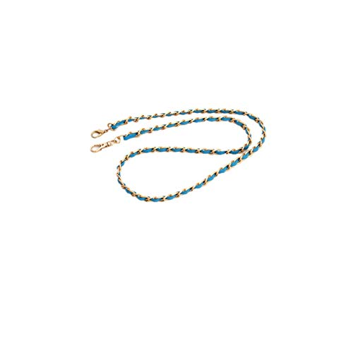 JCX Accesorios de joyería Cadena Ropa Cadena de Equipaje Color Cadena de Cintura de Metal Trenzado Cadena Delgada Tipo de cláusulaAzul