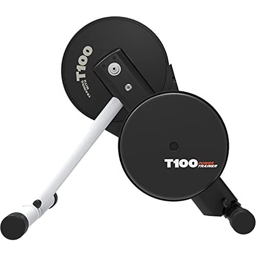 Magene T100 Soporte para Entrenador de Bicicleta Interior Semi-Inteligente, Entrenador Turbo con Función de Alimentación para Ciclismo, Compatible con Ant+ Bluetooth