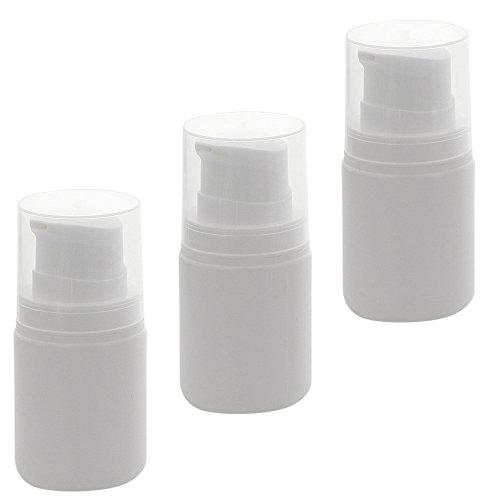 Leerer Kosmetex Airless Pumpspender 50ml mit Innenbeutel, Cremespender, Lotion und Gelspender zum selbst Befüllen, 3 x 50 ml