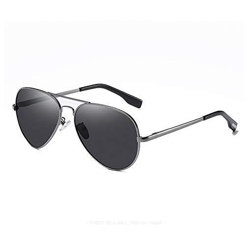 HRXS Gafas de Sol de Moda, polarizador Neutro, protección UV, Adecuado para Conducir, Pescar, Esquiar,Negro