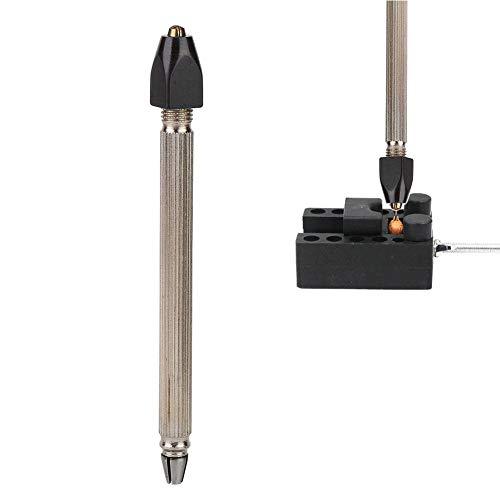 Qiterr Uhrreparaturset, Professionelle Uhr Schmuck Reparatur Werkzeug Pin Vise Chuck Datei Bur Bohrer Drahthalter