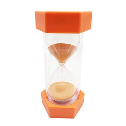 SUPVOX 20 Minuten Sanduhr Timer Kreative Dekoration Kleine Hexagonal Sanduhr Timer Kinder Spielen Spielzeug Geschenk (Orange)