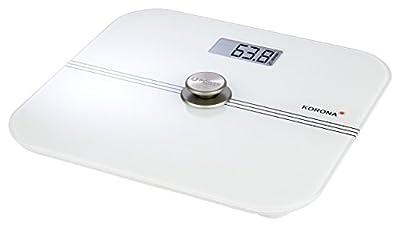 Korona 73160 Báscula personal digital Mona | báscula corporal de vidrio | capacidad de 200 kg | graduación de 100 gramos