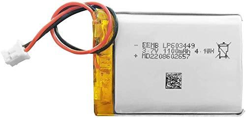 3.7V 1100mAh 603449 Batería Lipo Batería Recargable de Iones de polímero de Litio PCS con Conector JST