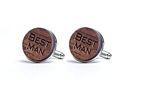 Manschettenknöpfe Herren Holz Best Man - manschettenknöpfe hochzeit Paar Manschettenknöpfe aus Natürlichem Holz Geschenk für Männer