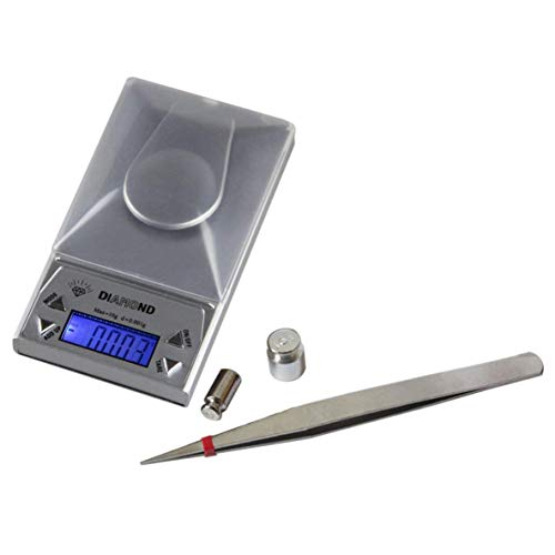 XIANGAI High Precision Compact et expérience Portable 10/20 / 50G LCD Lab 0.001g Balance de Bijoux numérique Herb Balance des Poids Gram