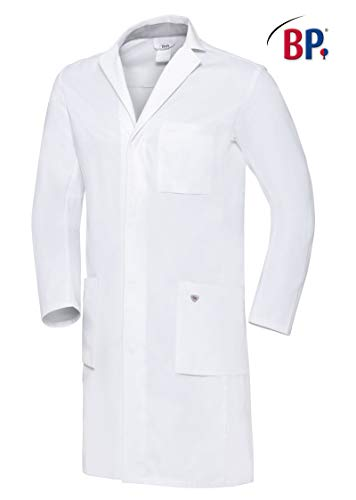 BP 1753-130-0021-50n Arztkittel für Männer, Langarm, Arm-Lift-System, 205,00 g/m² Reine Baumwolle, weiß,50n