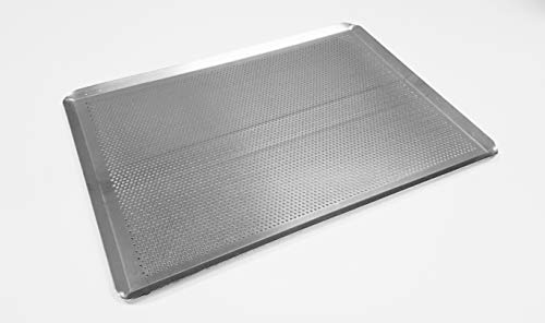 'Sasa Demarle HG330460 Aluminum Perforated Sheet Pan, 18' Length, 13' Width, 1' Height', silver, large