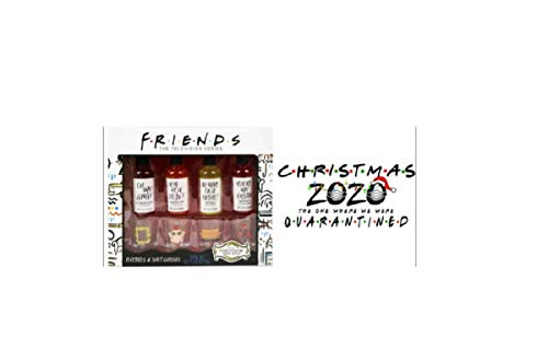 Friends Cocktails Gift Set, 9.2 Oz., Acrylic Quarantine Christmas Ornament and Window Cling (see second pic for Ornament)