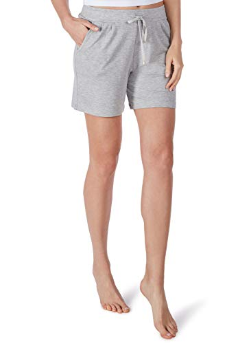 Huber Damen Schlafanzughose 24 Hours Women Lounge Lounge Jogginghose Shorts, Grau (Light Grey 016611), 40